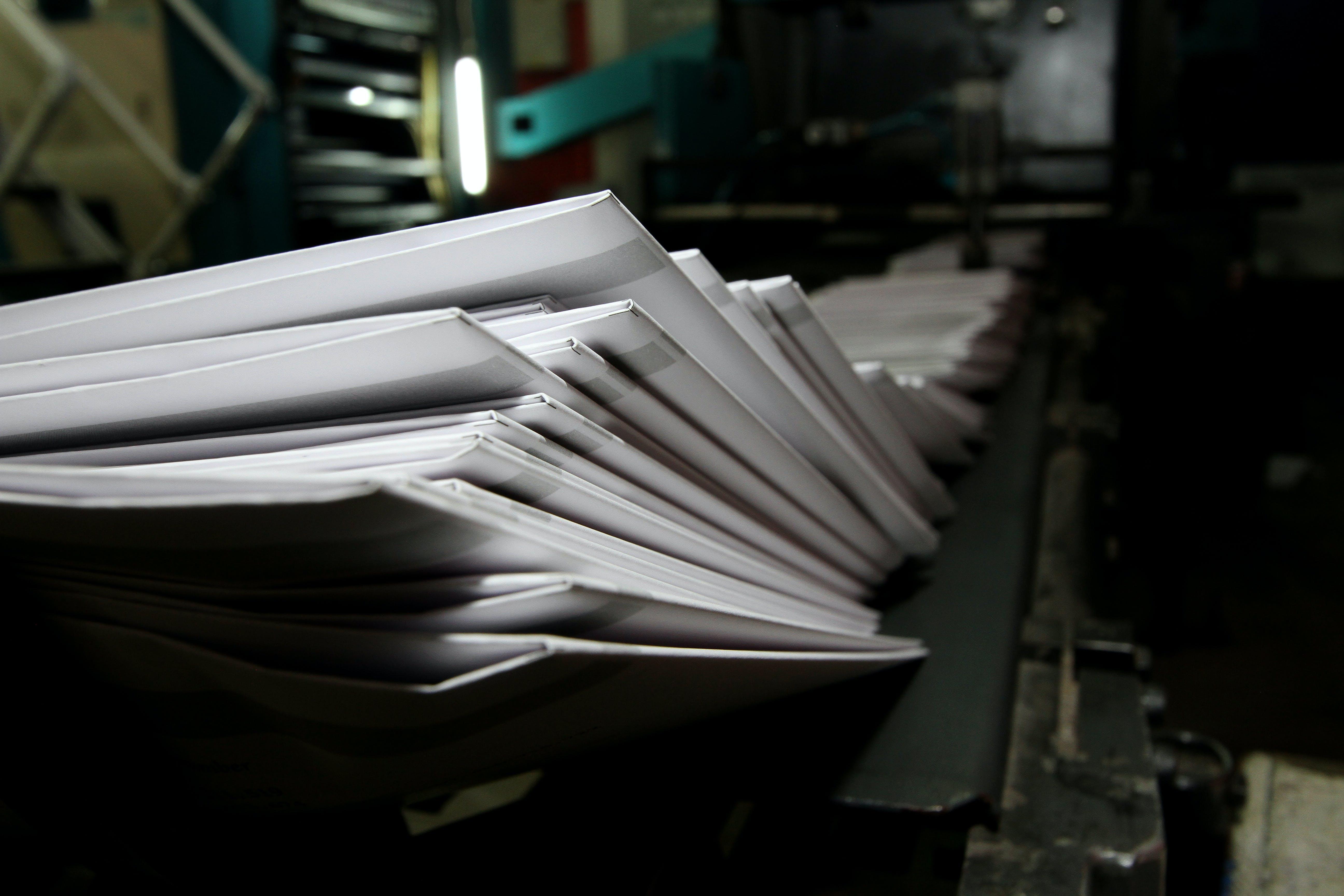 Free stock photo of book, Book printing, printer, Printing press