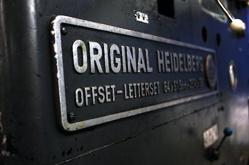 Free stock photo of machine, offset printer, original heidelberg