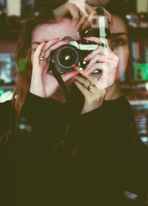 創作的, 双重曝光, 女人, 女性 的 免费素材照片