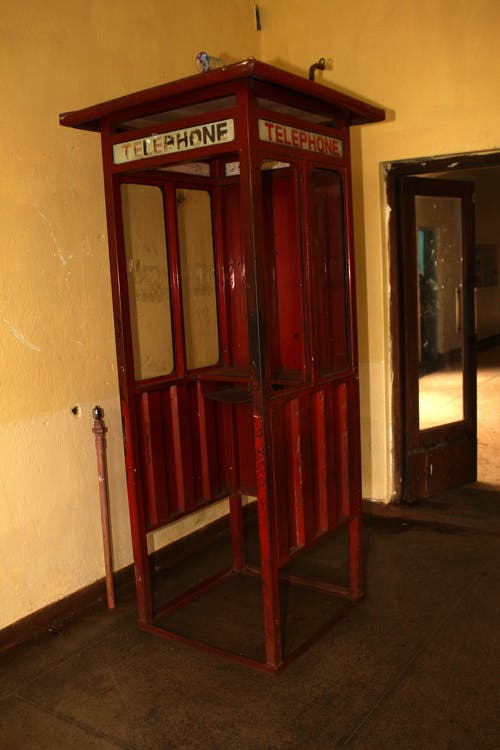 Free stock photo of old phonebooth, red phonebooth