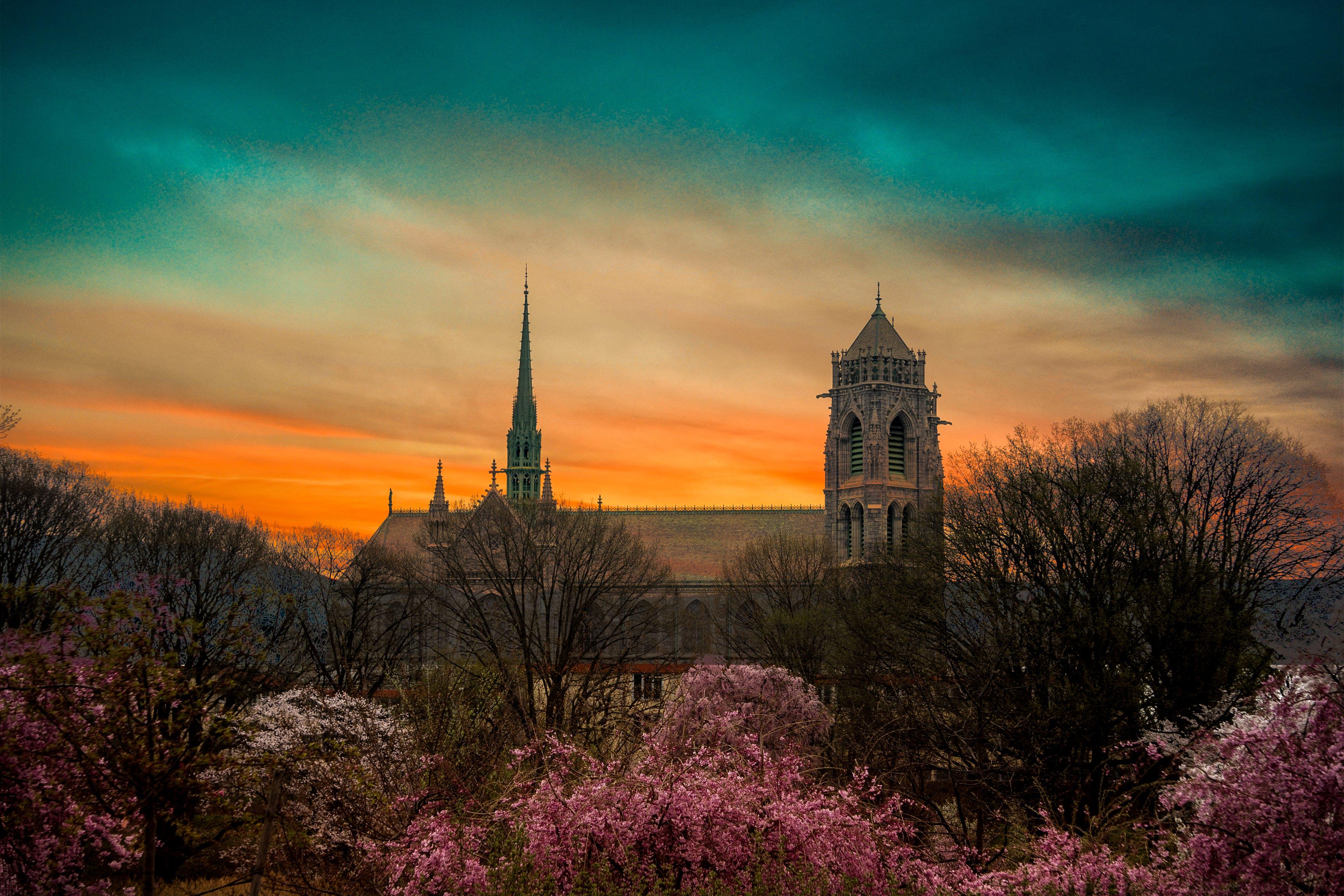 Free stock photo of aest, aesthetics, church, sky