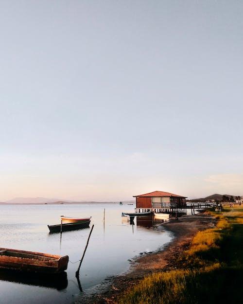 Gratis arkivbilde med bakbelysning, båter, dagslys, gress