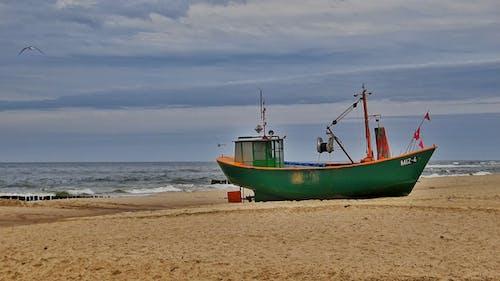 Free stock photo of Baltic Sea, beach, boat, fisherman