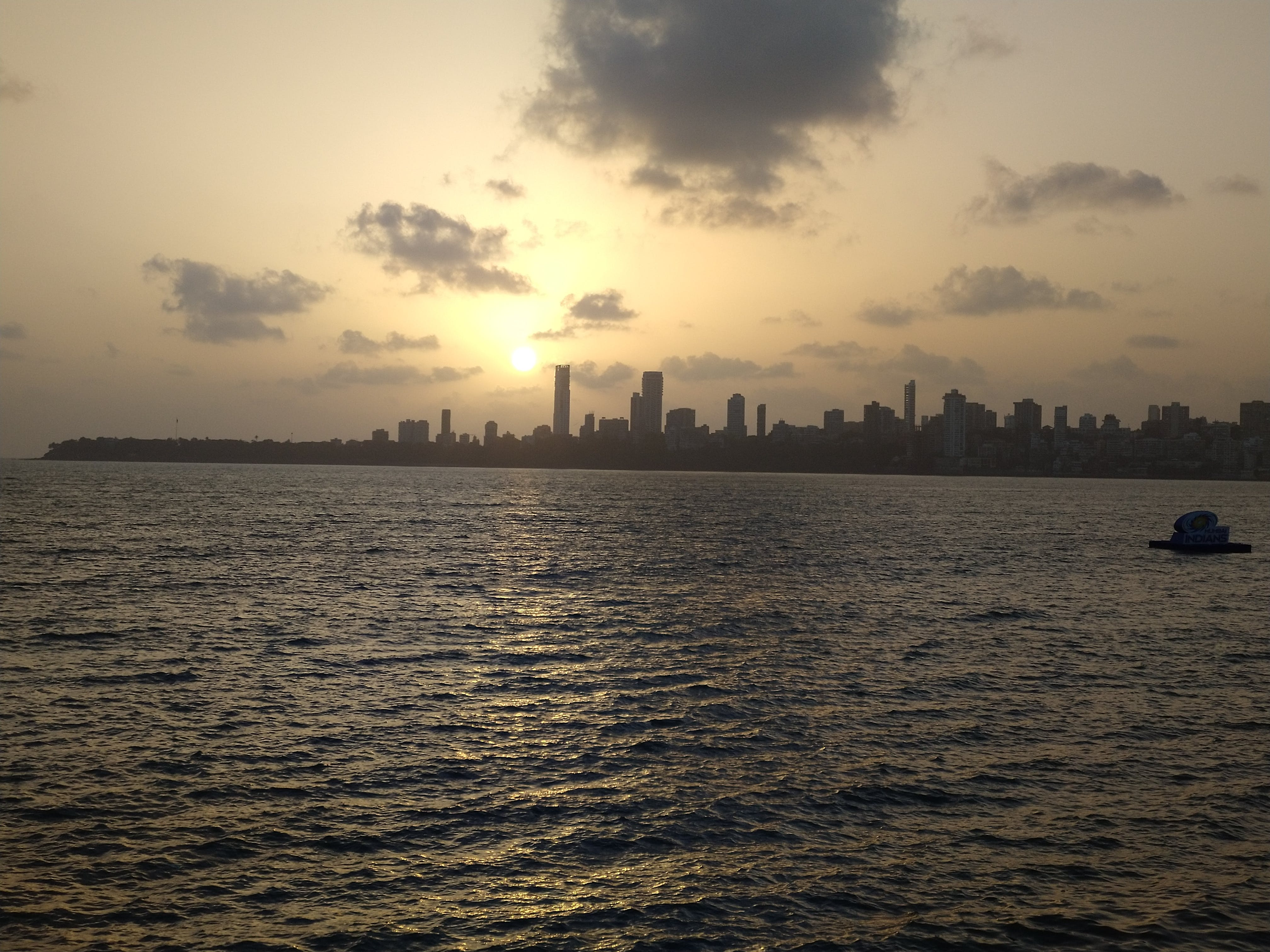 Free stock photo of Sunset at nariman point