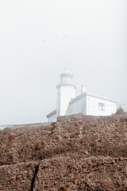 Darmowe zdjęcie z galerii z deszczowy dzień, fotografia krajobrazowa, góra, latarnia morska