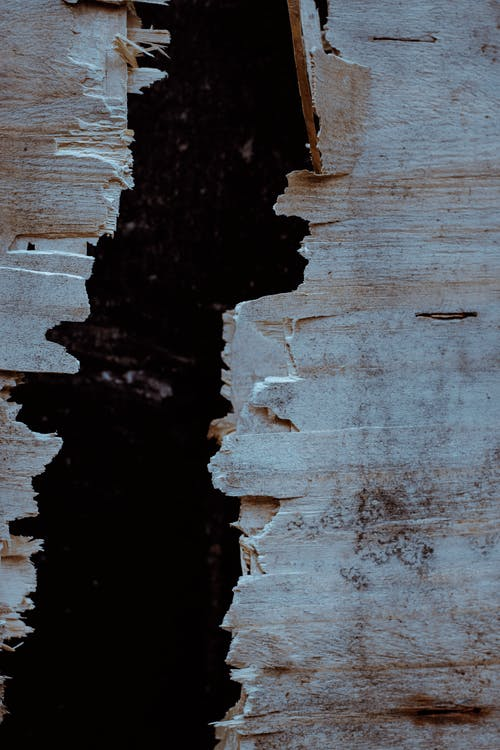 Broken Brown Wooden Wall