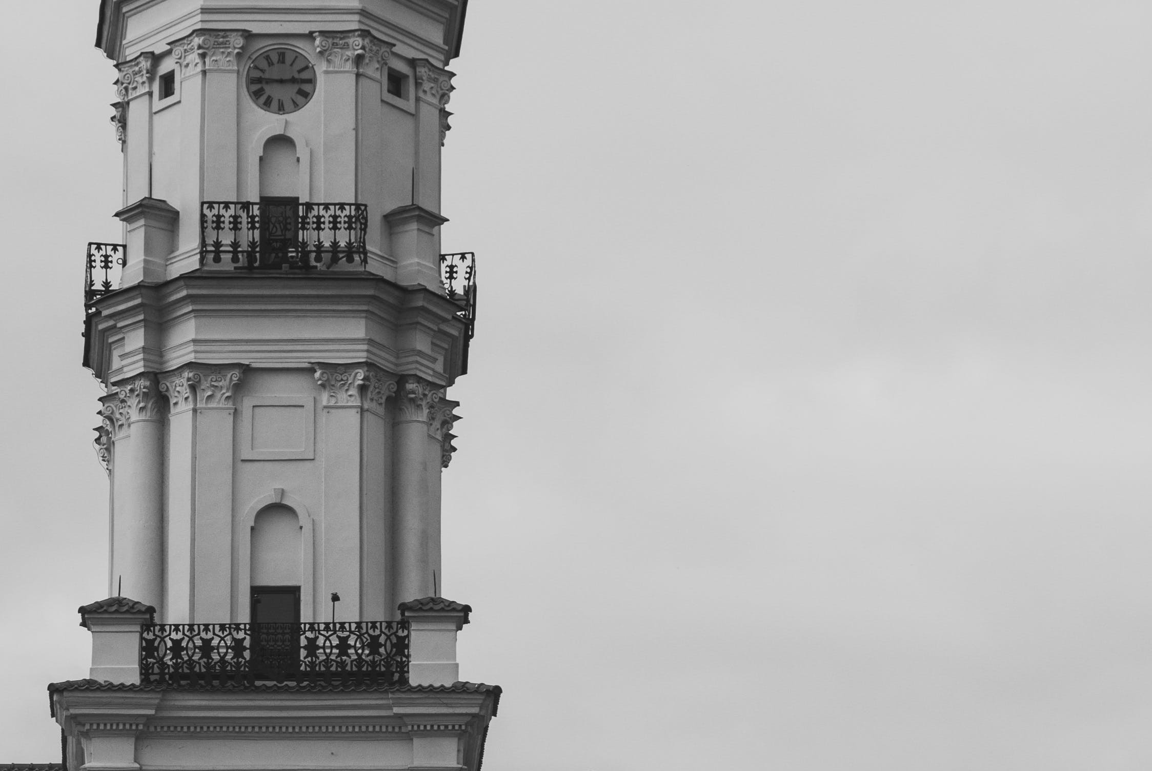 Grayscale Photography of Tower during Daytime