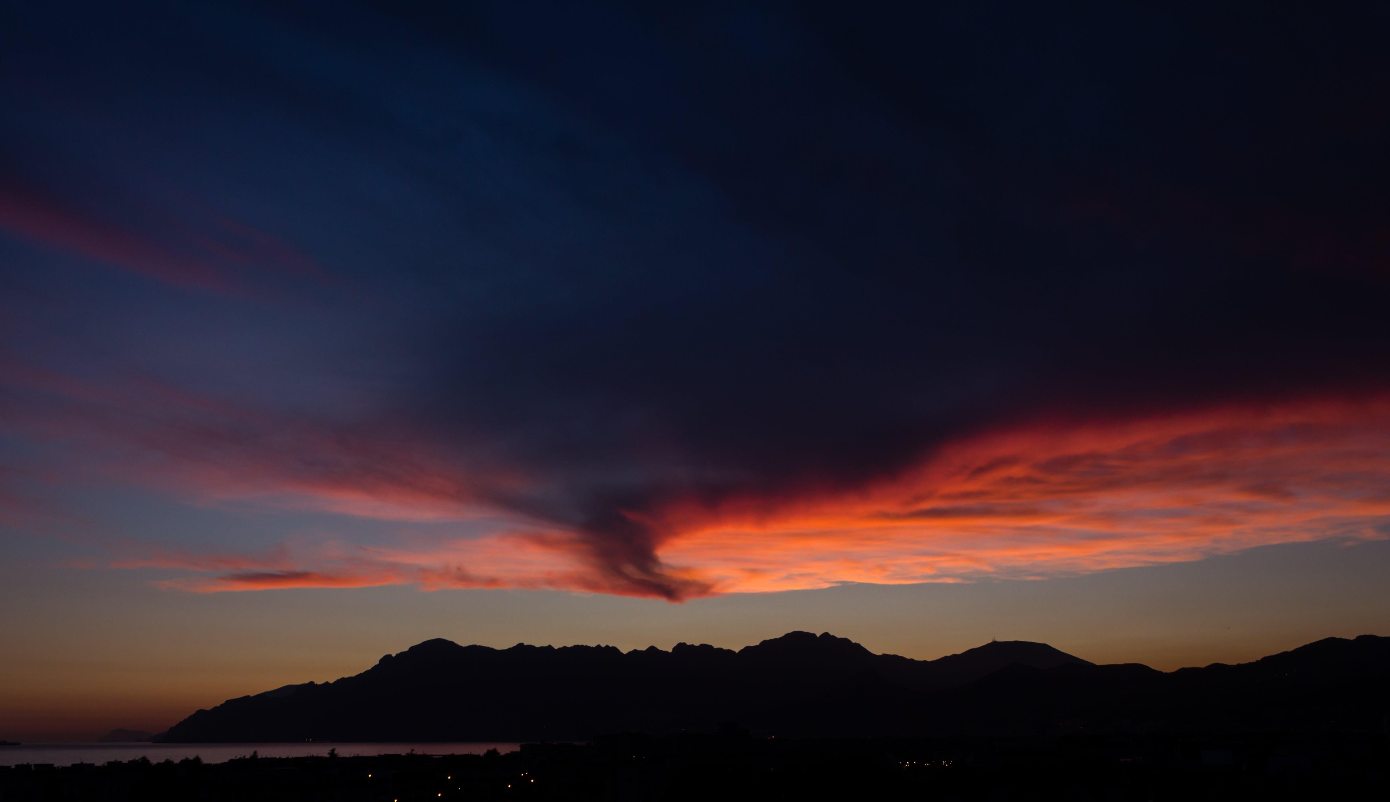 Free stock photo of clouds, Orange Sunset, sky, sunset