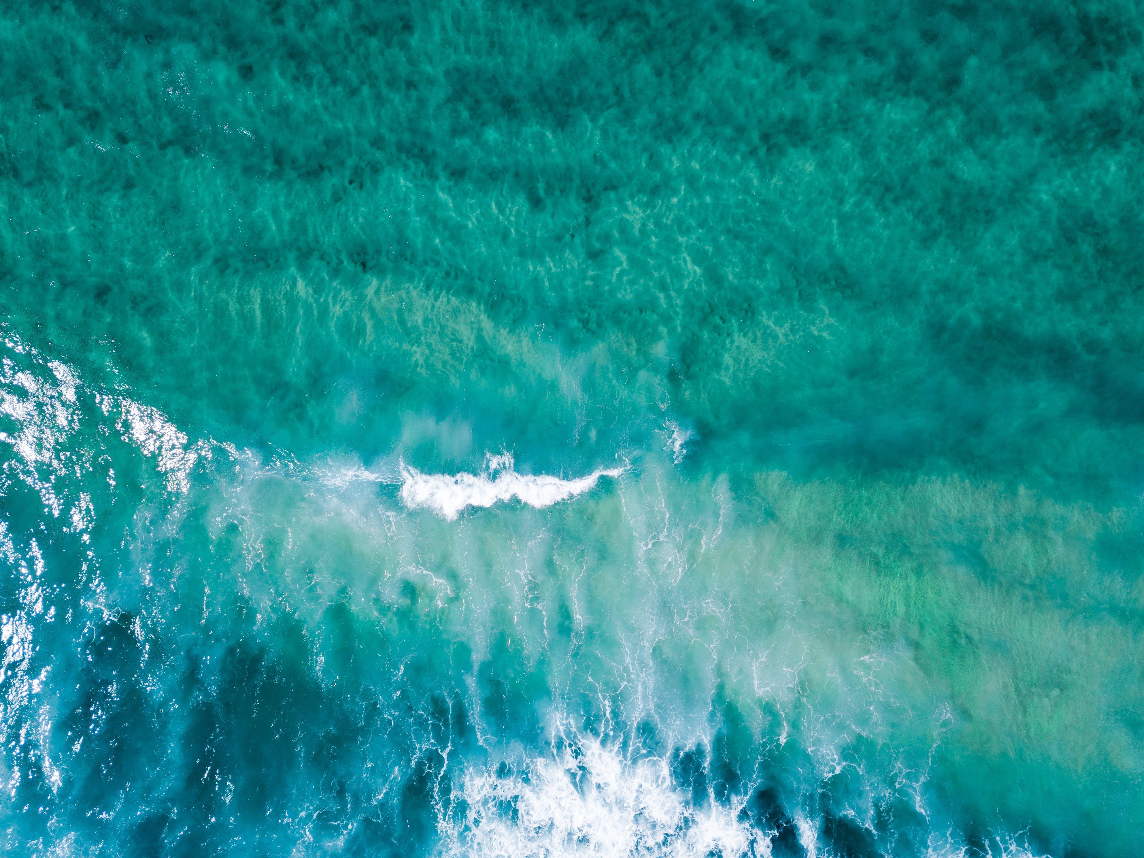 Aerial Shot Of Ocean