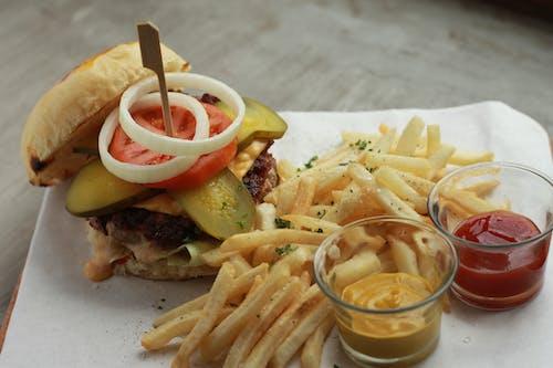Foto stok gratis burger, burger daging sapi, burger keju