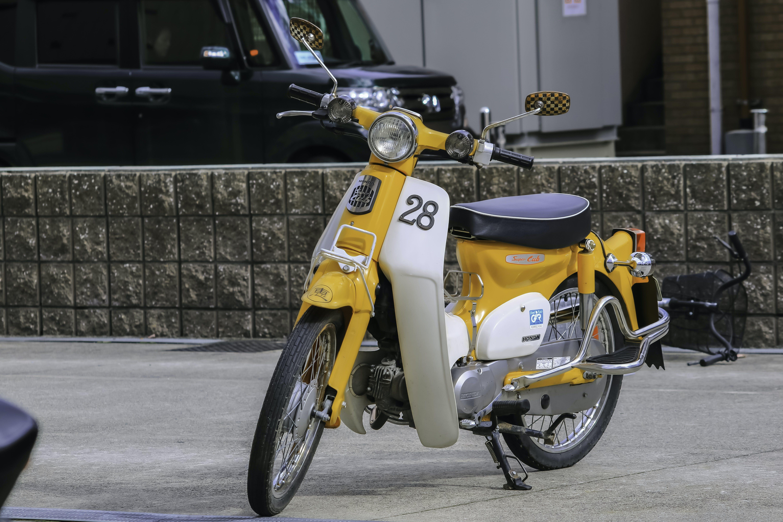 Free stock photo of #yellow, 70s, bike, c70