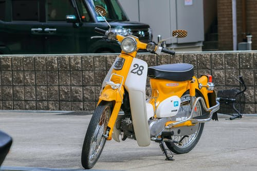 Free stock photo of #yellow, 70s, bike, c70