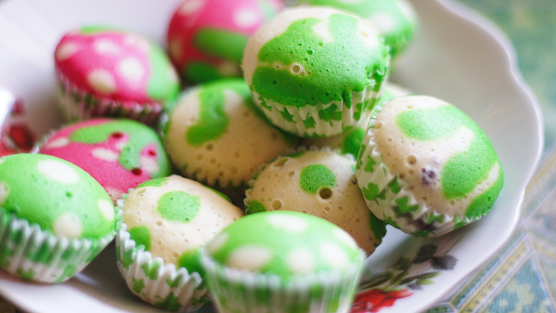 White and Green Cupcake