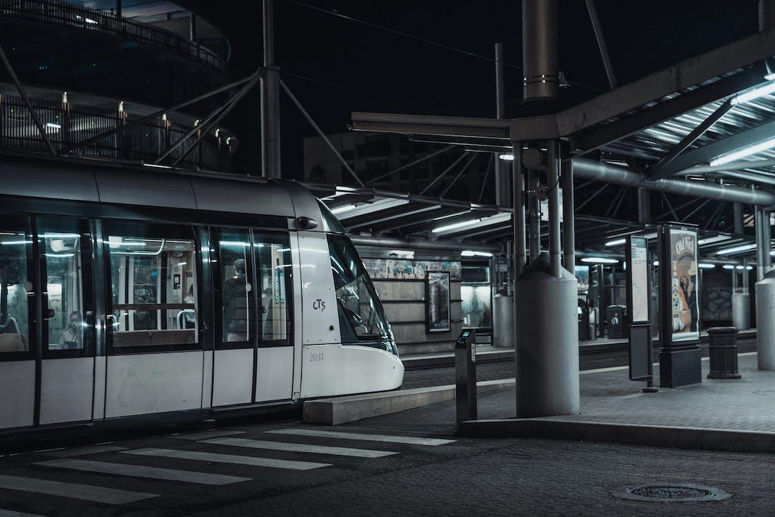 White Train in Empty Terminal