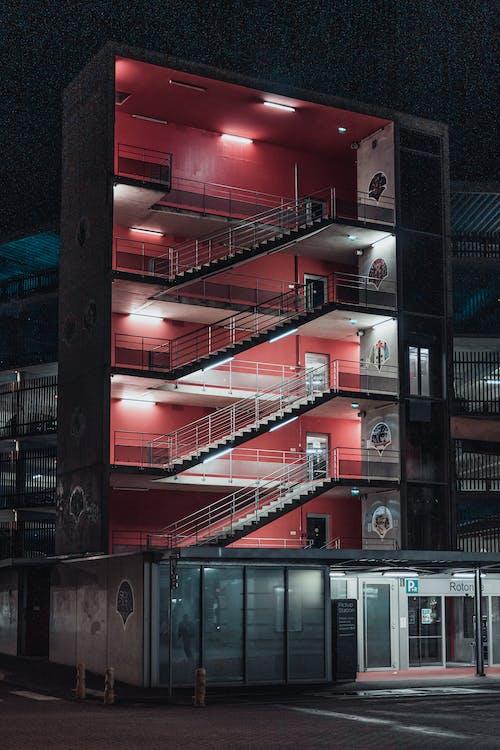 Turned-on Lights on Multi-storey Building