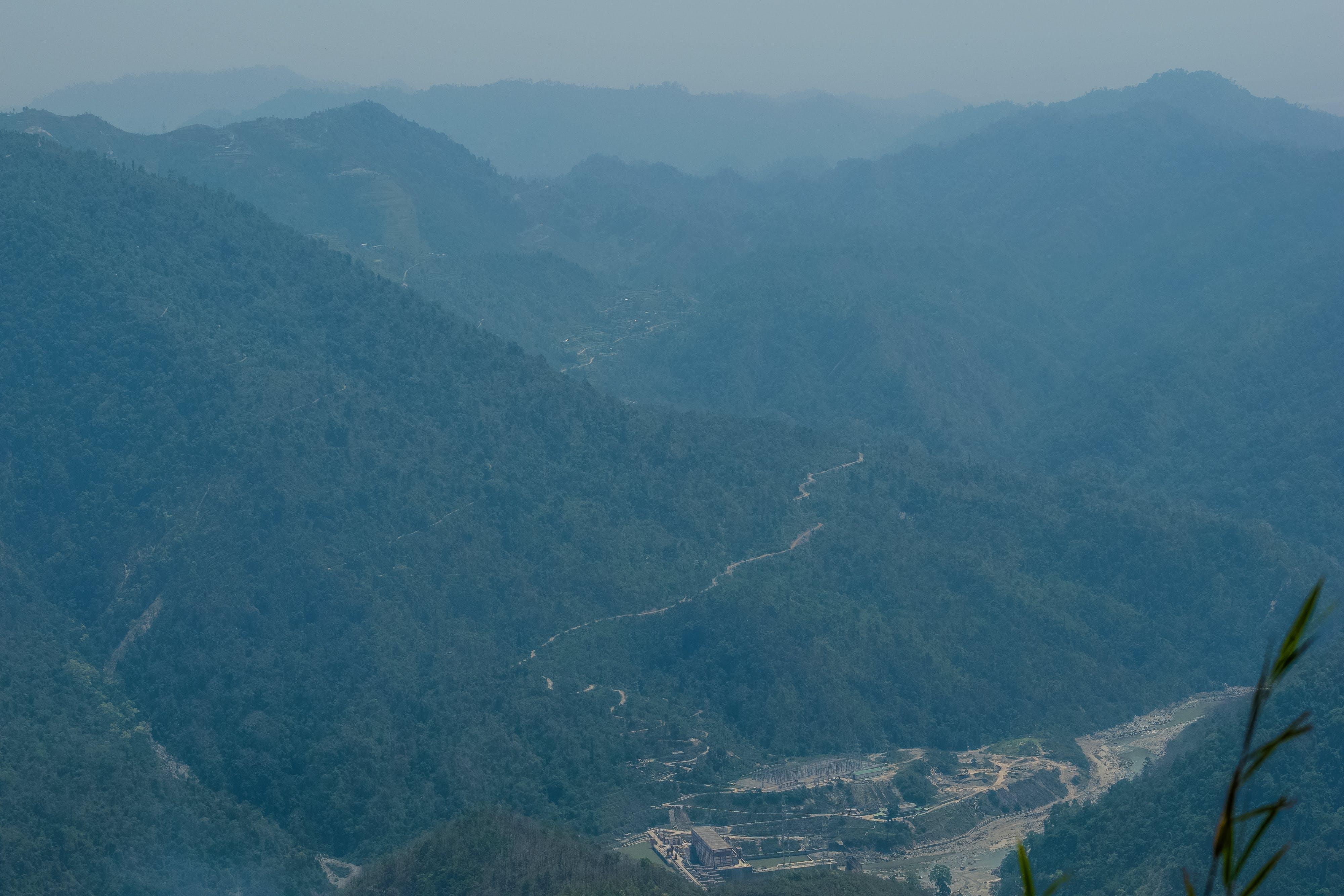 Kostenloses Stock Foto zu ahal dhara view point, berg, fluss, hügel