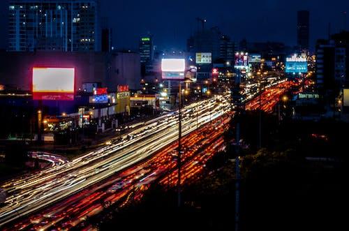 Free stock photo of car, city, lights