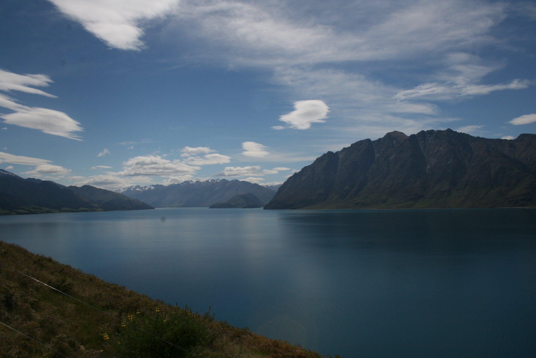 Kostenloses Stock Foto zu berg, draußen, gewässer, horizont