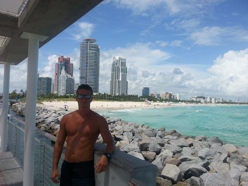 Free stock photo of atlantic ocean, beach, body building