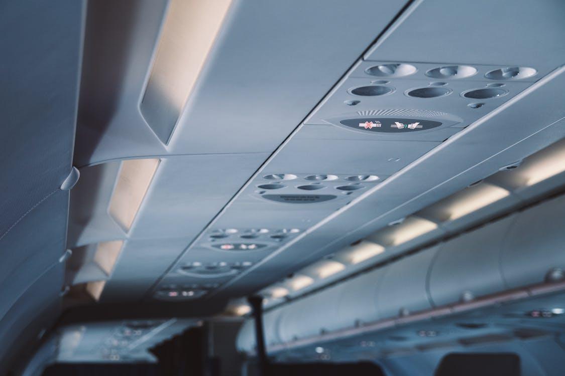 aerolínea, aeronave, aire acondicionado