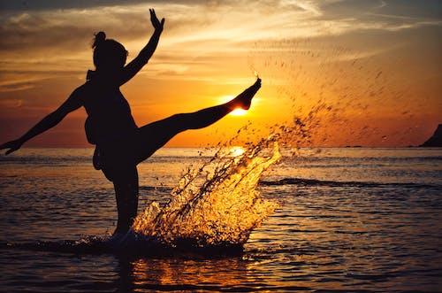 คลังภาพถ่ายฟรี ของ การสะท้อน, การเคลื่อนไหว, ขอบฟ้า, ชายทะเล