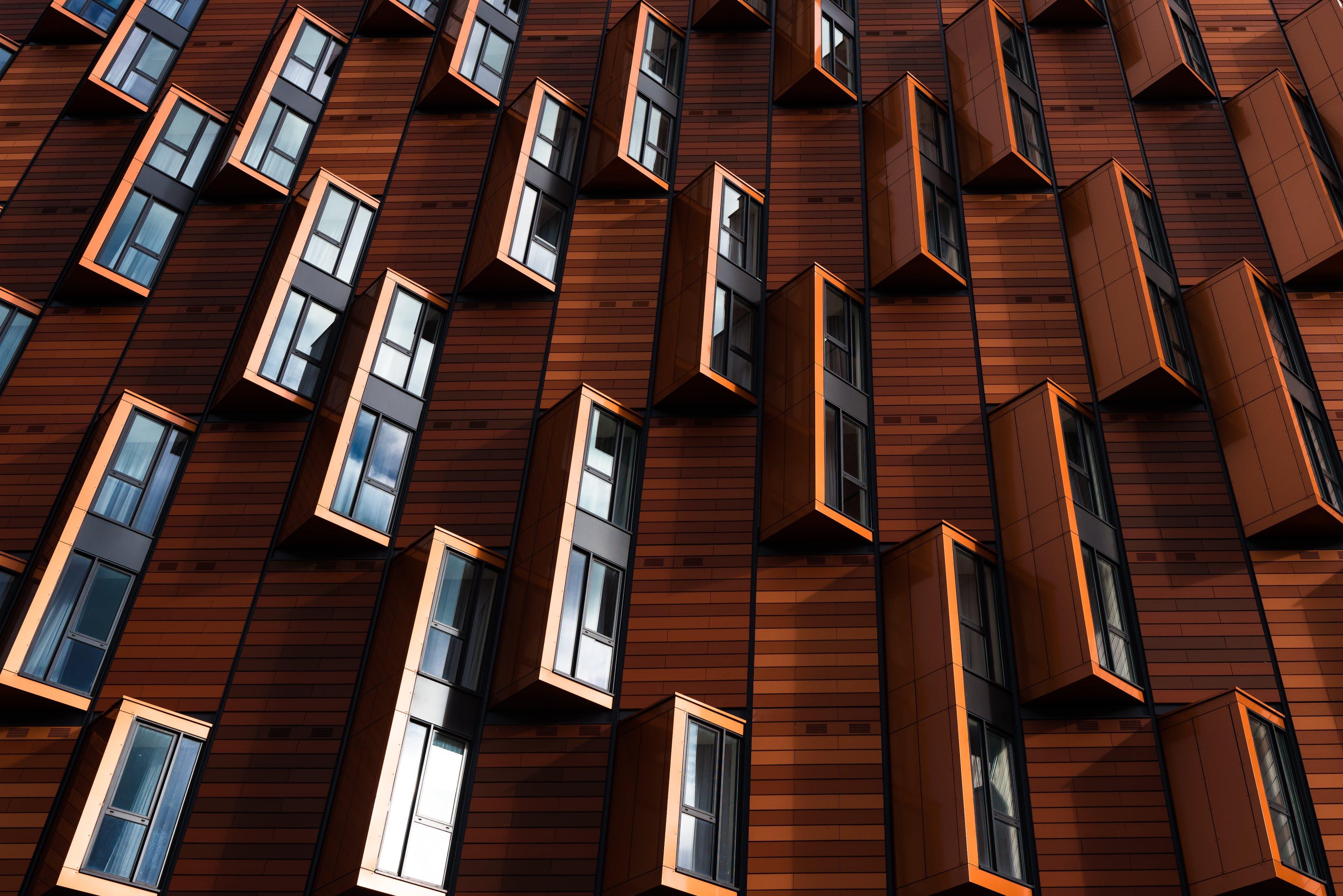 Brown Wooden Window Wallpaper