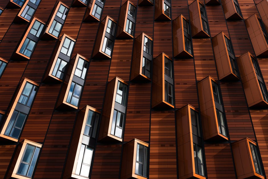 Abstract architecture building business