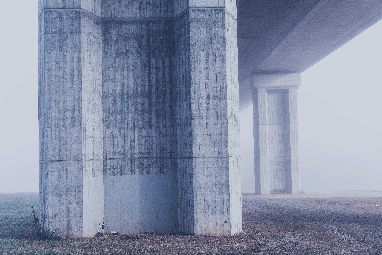 Grey White Concrete Structure