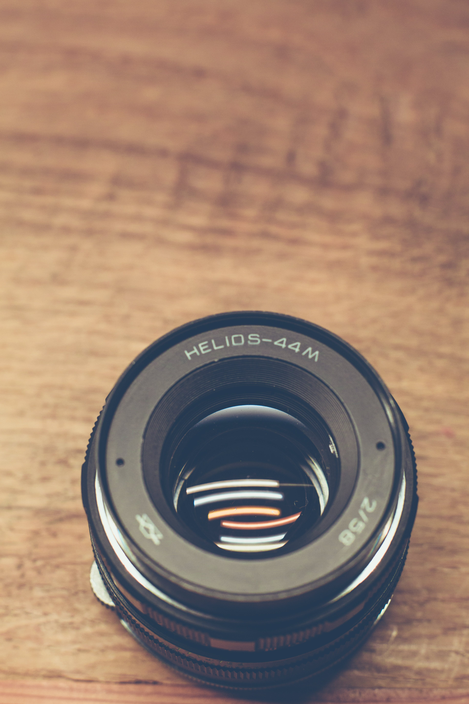 Black Helios-44m Camera Lens
