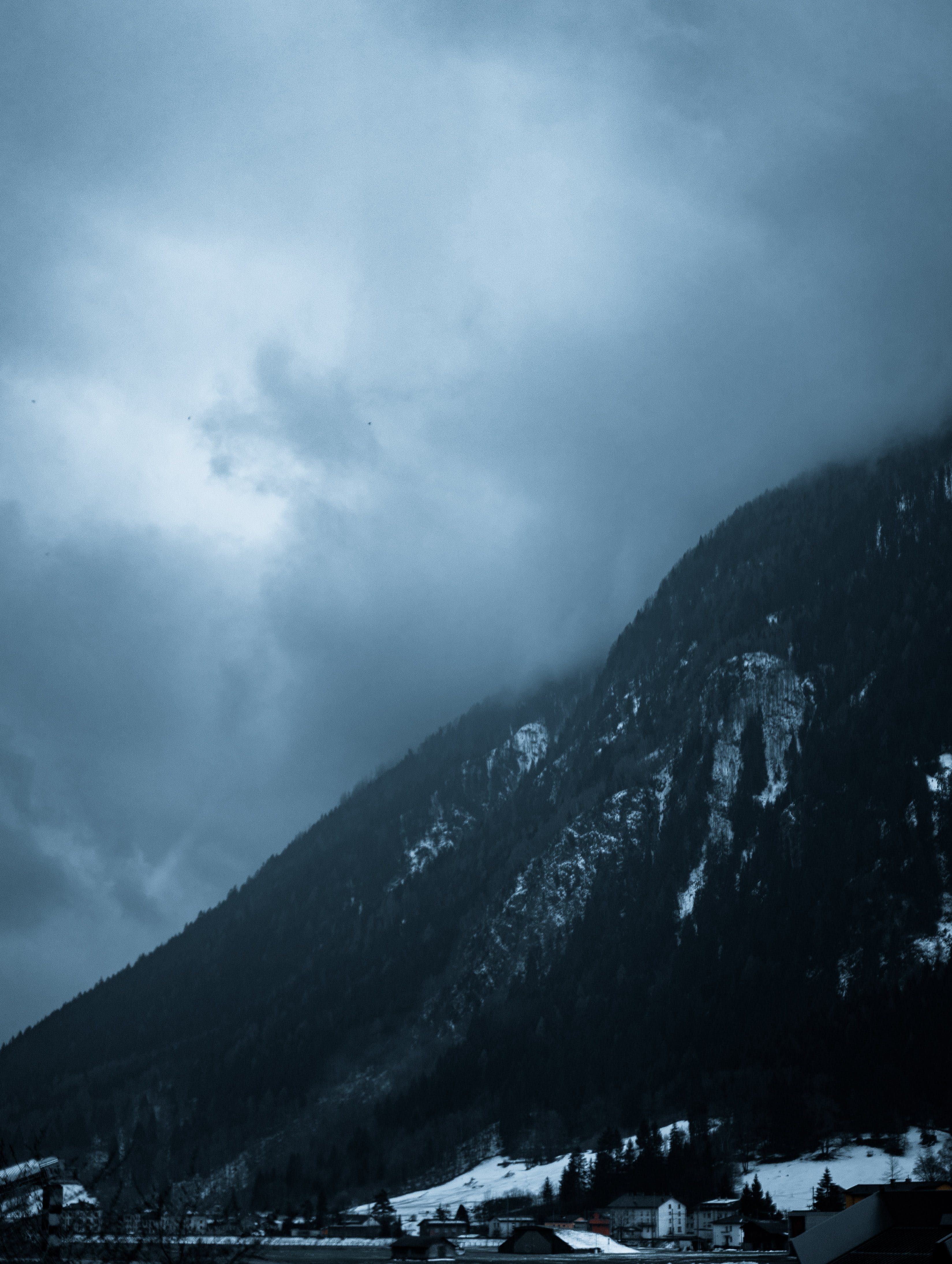 Free stock photo of blue mountains, clouds, cold, mountains