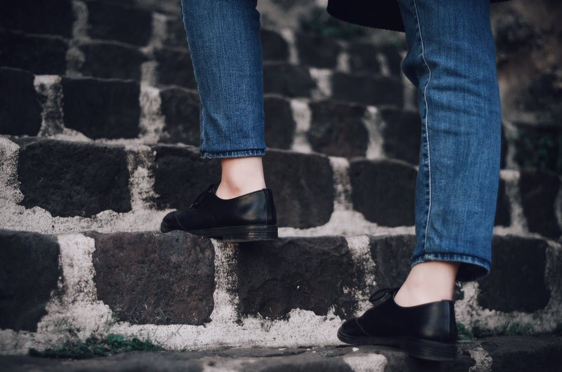 chaussures, chaussures en cuir, chaussures noires