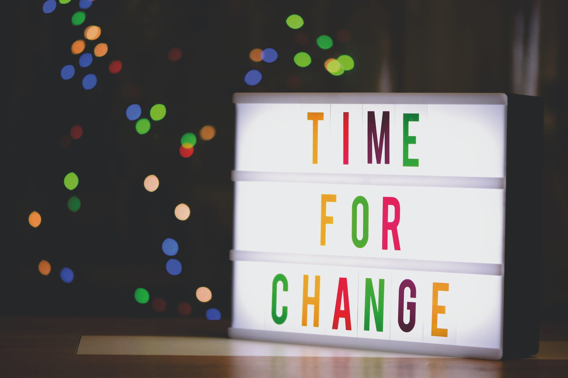 Time for Change Sign With Led Light