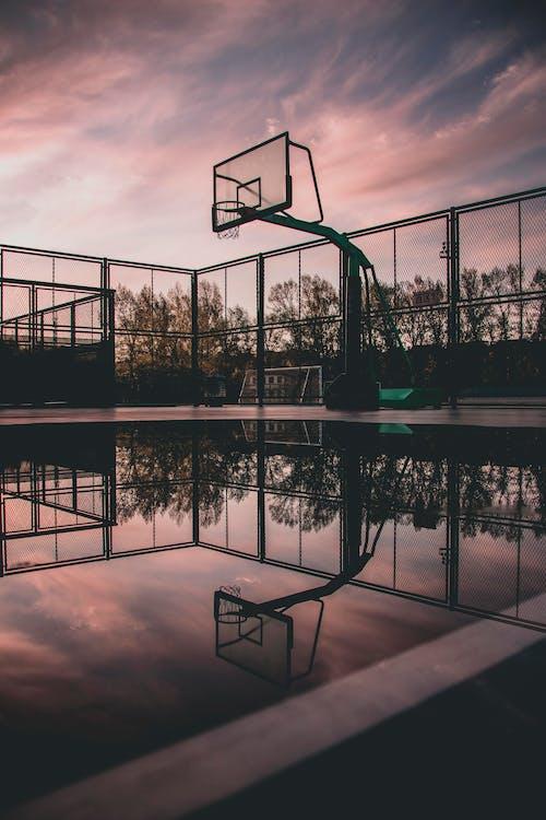 Silhouette Photo of Portable Basketball