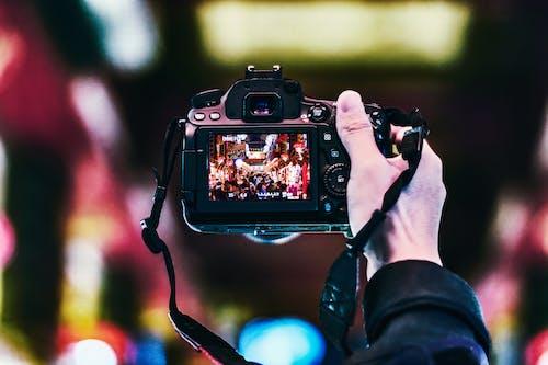 Imagine de stoc gratuită din acțiune, aparat de fotografiat, aparat foto, apertură
