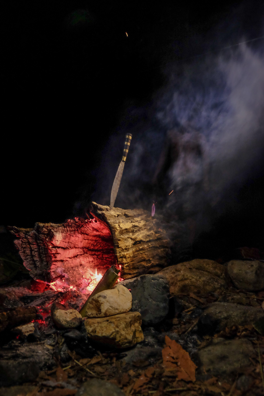Ilmainen kuvapankkikuva tunnisteilla kevyt, leirintäveitsi, palaminen, polttaa