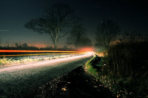 Free stock photo of car, country, dark, drive