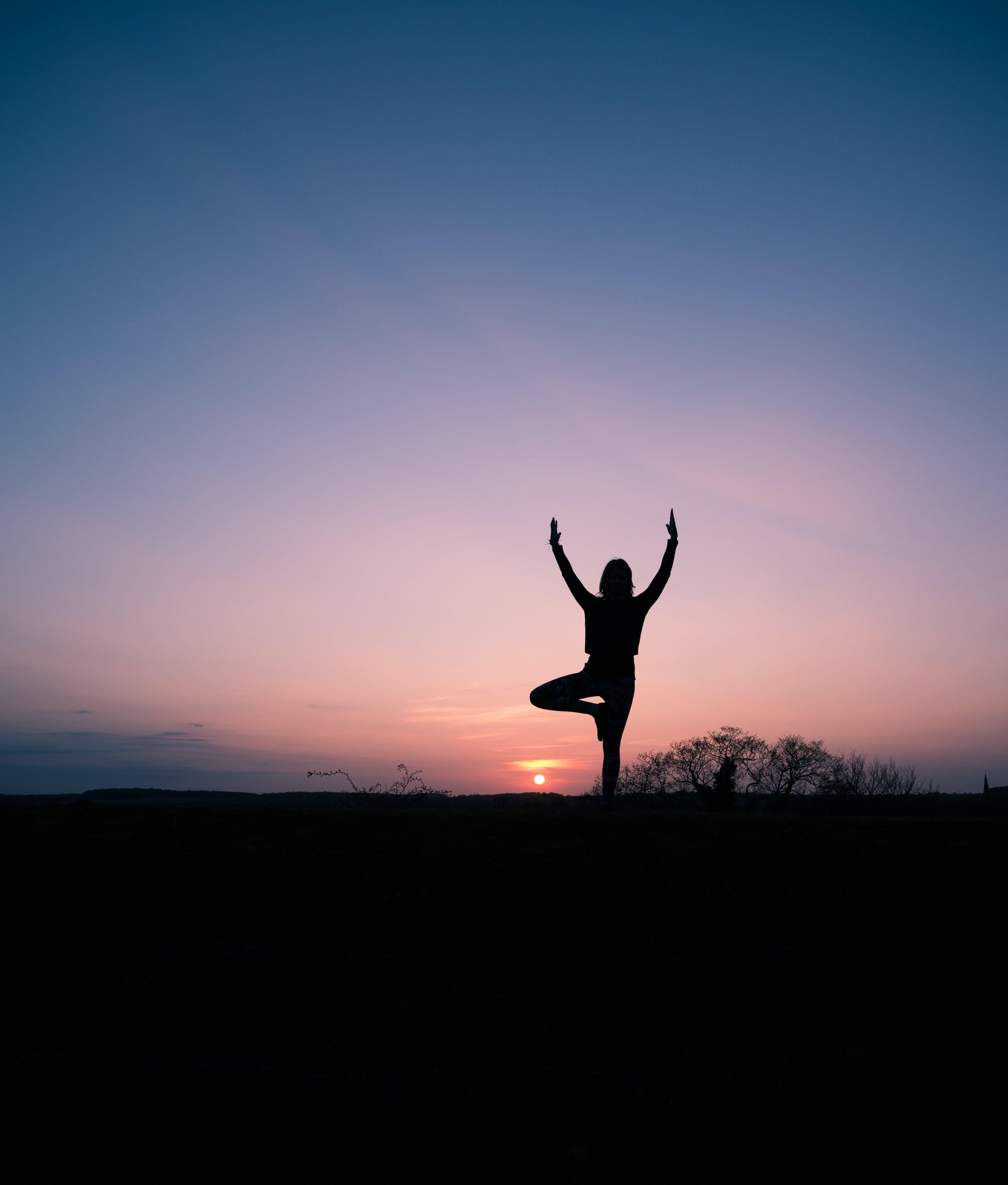 Foto d'estoc gratuïta de alba, amb silueta, capvespre, esbarjo