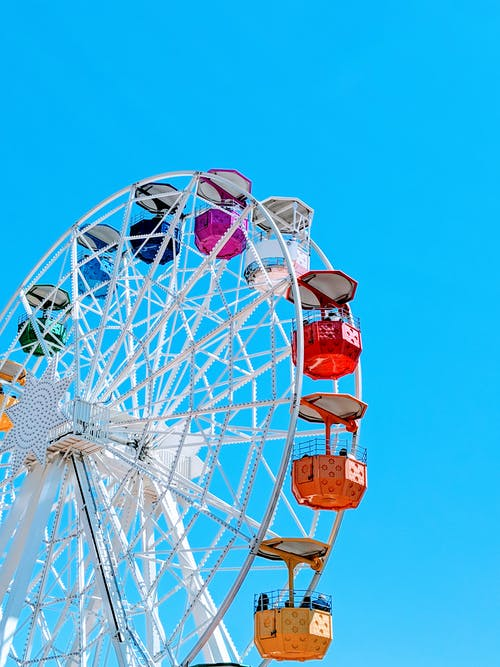 White and Multicolored Ferries Wheel