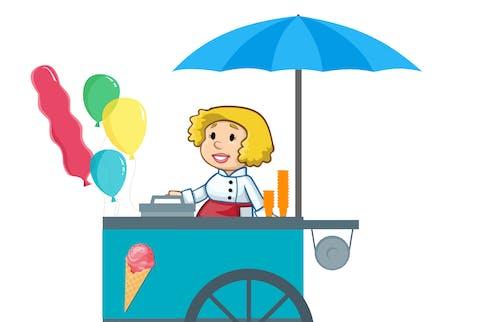 Free stock photo of balloon, café, car, cart
