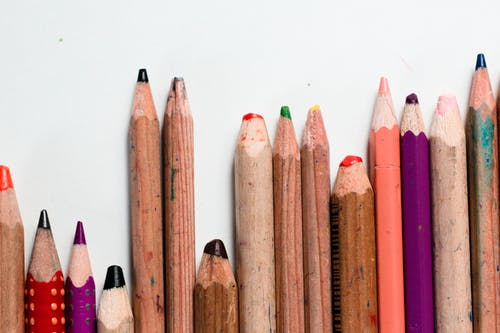 Free stock photo of art materials, childhood, color, colored pencils