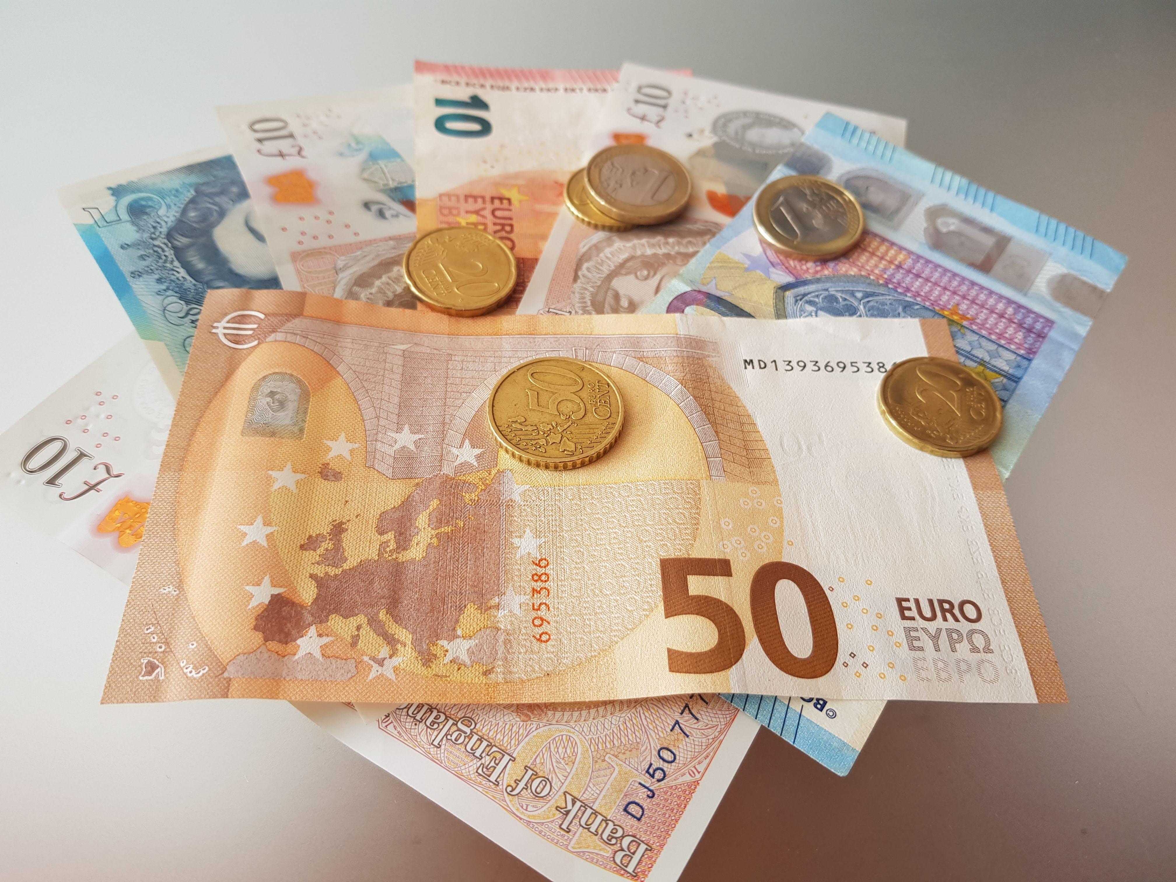 Gratis lagerfoto af euro, penge, pengeseddel, pengesedler