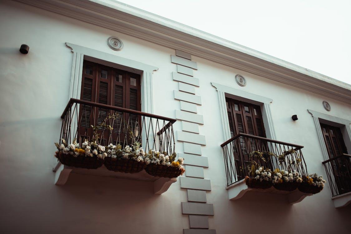 ahşap, apartman, balkon
