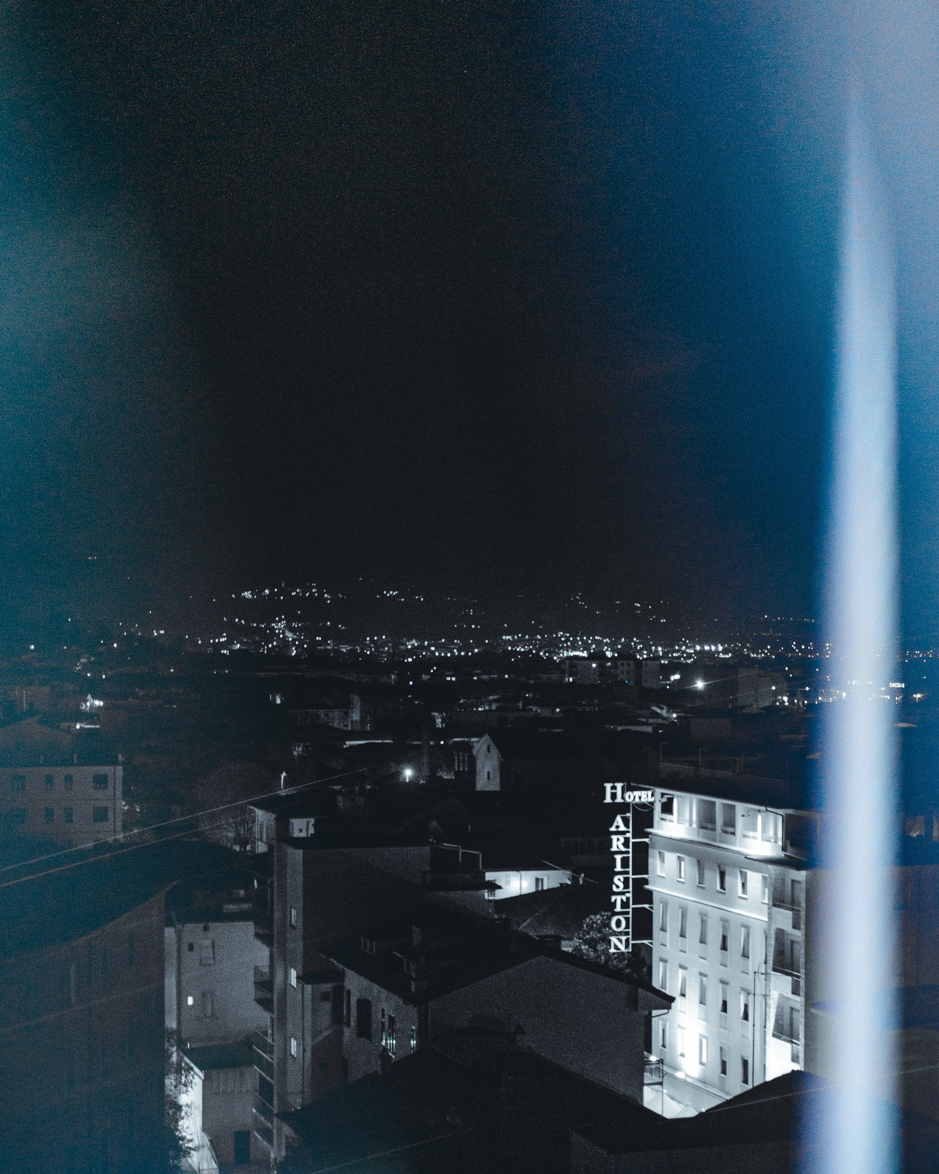 Free stock photo of above, at night, city, city lights