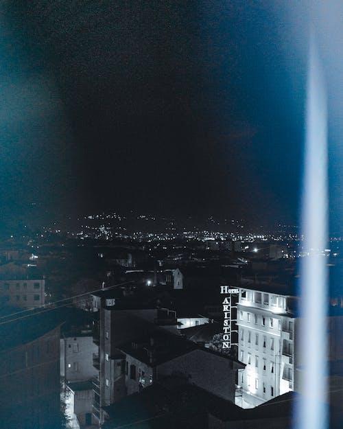 Kostenloses Stock Foto zu in der nacht, leichte fackel, lichter der stadt, stadt
