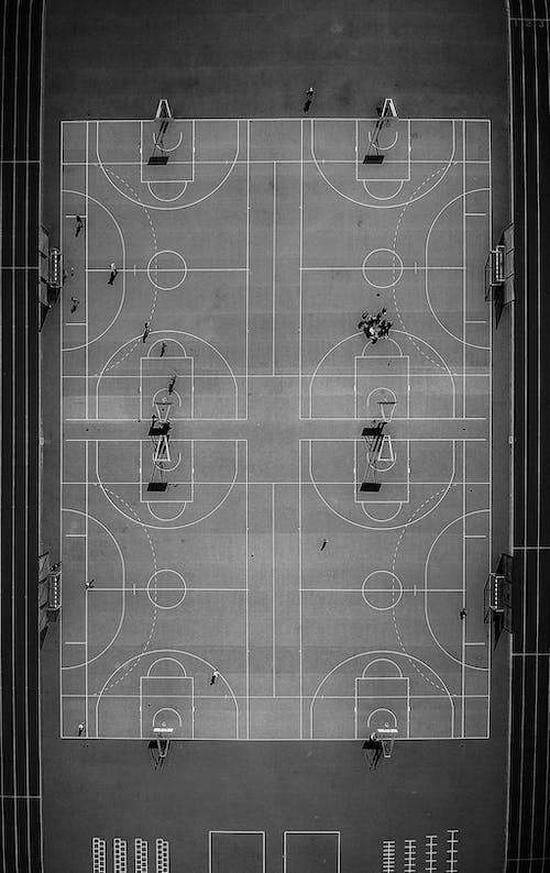 俯視圖, 單色, 無人機攝影, 無人機視圖 的 免费素材照片