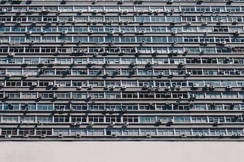 Ingyenes stockfotó ablakok, alacsony szögű felvétel, beton, design témában