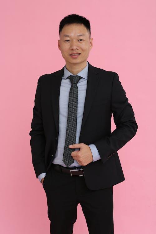 Základová fotografie zdarma na téma asiat, černý oblek, dívání, dobře vypadající