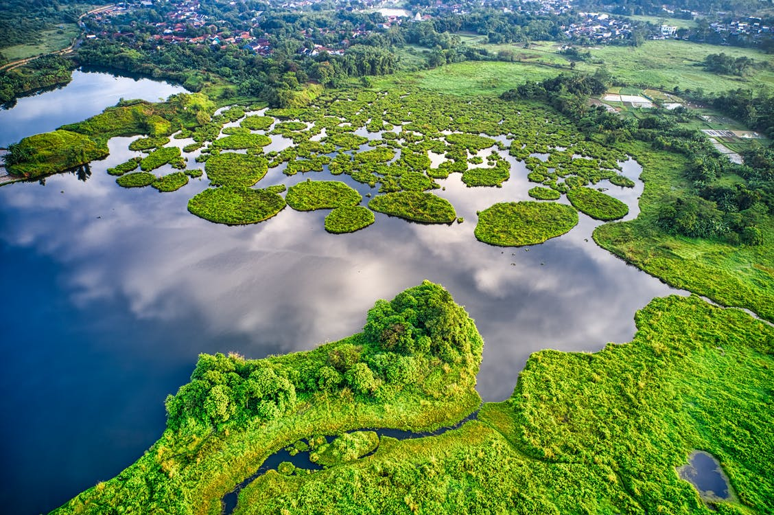 Landscape Photography of Green Islands