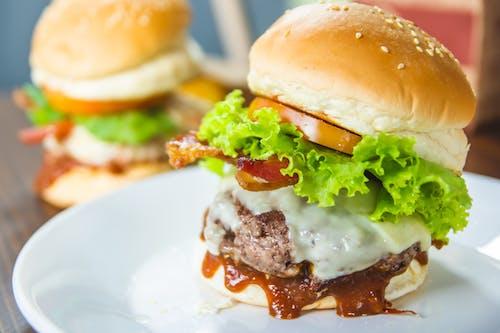 Kostenloses Stock Foto zu appetizer, belegtes brot, brötchen, burger