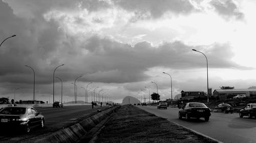 Free stock photo of Abuja, black and white, cars